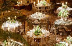 Decoração casamento - mesas (Decoração: Bossanova | Foto: Fernanda Scott)