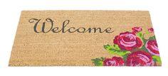 Welcome (Rose) Coir Mat