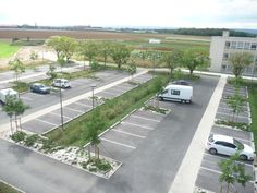 Bretenière - TAE Technopole Agro Environnemental - Architecte Paysagiste Mayot Toussaint Park Landscape, Landscape Plans, Urban Landscape, Car Park Design, Parking Design, Plans Architecture, Landscape Architecture Design, Parking Plan, Park Signage