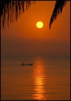 Sunrise at Hopkins,  Stann Creek, Belize Copyright: Chris Chafer