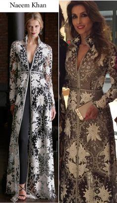 montaje-4 Batik Fashion, India Fashion, Pakistani Outfits, Indian Outfits, Cristina Reyes, Modest Fashion, Fashion Dresses, Coats For Women, Clothes For Women