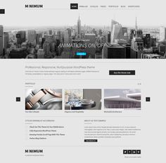 MINIMUM WordPress Theme http://themeforest.net/item/minimum-professional-wp/4084338?ref=wpaw by QODE #wordpress #web #design