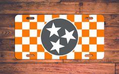 Tennessee VOLS License Plate TN Volunteers Car Tag - Rocky Top! Custom Car Plate…