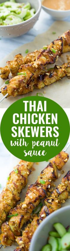 Thai Chicken Skewers