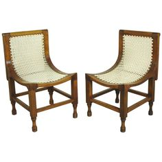 Two Egyptian Revival Thebes chairs in the style of Liberty ca1920's UK