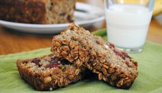 Oatmeal Banana Bread — perfect for those overripe bananas on your counter. Replace the egg with flaxseed