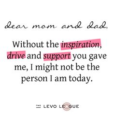 thank you mom and dad    ... : Listen Up Mom and Dad, I'm Saying 'Thank You' ~ Levo League