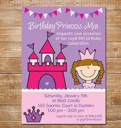 Princess Invitation Princess Party Little by chevronprintables