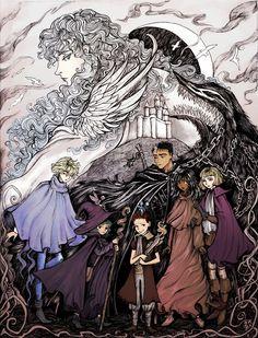 Berserk print for the Otakuthon the World Began to Change Manga Anime, Anime Art, Anime Soul, Story Arc, T Art, Fantastic Art, Dark Souls, Dark Horse, Anime Comics