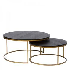 Charrell - COFFEE TABLE TODD S/2 - DIA 90/70 - H 44/35 CM (image 1) Coffee, Interior, Furniture, Home Decor, Image, Coffee Cafe, Indoor, Homemade Home Decor, Decoration Home