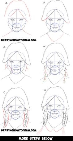 How to Draw a Realistic Cute Little Girl's Face/Head Step