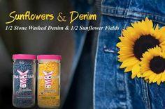 Sunflowers & denim pink zebra sprinkles