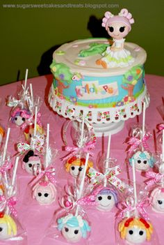 Sugar Sweet Cakes and Treats: Lalaloopsy Cake & Cake Pops Birthday Party Themes, Birthday Ideas, 4th Birthday, Birthday Cakes, Birthday Photos, Lalaloopsy Party, Sculpted Cakes, Cakes For Women, Bday Girl