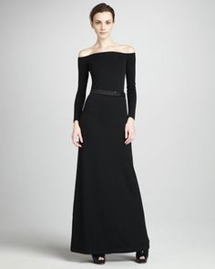 Off-The-Shoulder Gown by Halston Heritage at Bergdorf Goodman.
