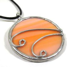 Orange Cream - Stained Glass Pendant