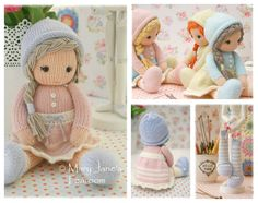 Little Yarn Dolls: Method 2/ PDF Doll Knitting Pattern / Toy