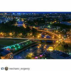 """#Repost @nechaev_evgeniy ・・・ #Иваново в ночи. #rooftop #37ru #russiandiary"""