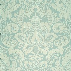 Scalamandre Wallpaper pattern name Daphne color Swedish Blue. Love Wallpaper, Pattern Wallpaper, Bedroom Wallpaper, Discount Wallpaper, Concept Home, Blue Wallpapers, Pattern Names, Damask, Fabric Design