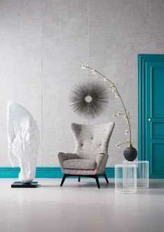 Kare Design, Accent Chairs, Blue, Furniture, Home Decor, Upholstered Chairs, Decoration Home, Room Decor, Home Furnishings