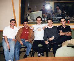 con Pedro Guerra y compañeros de Sony