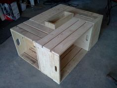 Table basse pour le salon en bois de palettes – Pallets Wood Coffee table