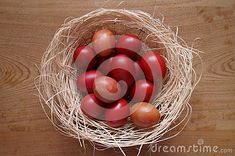 Photo about Easter background with red eggs. Image of rustic, background, holiday - 140228645 Egg Photo, Easter Backgrounds, About Easter, Free Stock Photos, Eggs, Rustic, Illustration, Holiday, Red