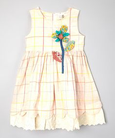 Another great find on #zulily! Yellow Floral Dress - Toddler & Girls by Little Anmy #zulilyfinds