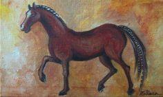 Brown horse  Acrilic tehnique on canvas Artist: Simona Zalinca  Contact: www.belladonart.wordpress.com