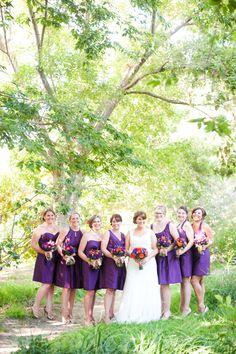 Purple Wedding Ideas - Purple and Orange Rustic Garden Wedding