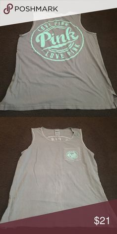 Vs pink campus tank Size medium very great condition no flaws PINK Victoria's Secret Tops Tank Tops
