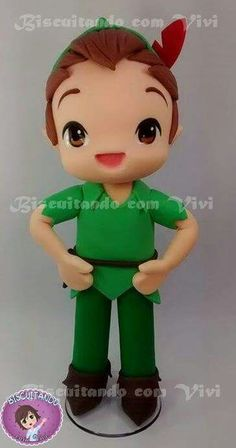 Peter pan Clay Art For Kids, Peter Pan Party, Kawaii, Tinkerbell, Polymer Clay, Disney Characters, Fictional Characters, Disney Princess, Pasta