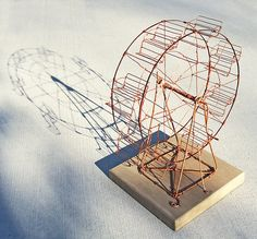 2nd Copper Wire Ferris Wheel by Ruth Jensen | Flickr - Photo Sharing!
