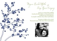 """Personalized 5'x7"""" flat stationary wedding invitations. Only $9.95 per 10 pack. Envelopes included."""