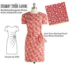(via Make This Look: Building Bouquets Dress - The Sew Weekly Sewing Blog  Vintage Fashion Community)