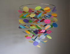 Floating Dot Confetti Mobile Large // Nursery by LittleDropsOfSun