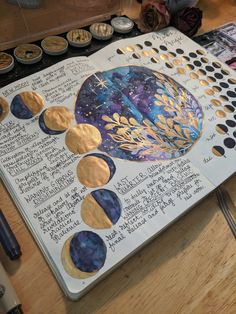 Moon Magic moon phase bullet journal spread with moon phase information for each phase. Pretty Moon Phase spread idea #bulletjournal #bujo #planwithme #moonphases #moon