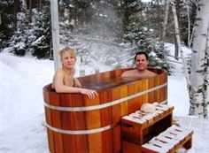 Hop into our Japanese deep soaking tub to give your body a relaxing experience. We offer cedar Ofuro hot tubs in both oval and round shapes. Japanese Soaking Tubs, Deep Soaking Tub, Japanese Bathtub, Outdoor Bathtub, Indoor Outdoor, Soaker Tub, Saunas, Glamping, Backyard