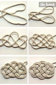 Image result for how to weave a rope doormat