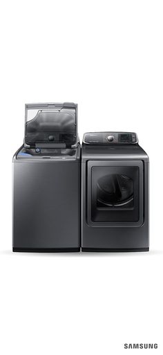 The Samsung Top Load Washer with activewash is the ultimate addition to your home renovation. This energy-efficient washing machine has a patented built-in sink and water jet to help pre-treat delicate clothes, tough stains, and even toys! It comes in both platinum and white to match whatever laundry room ideas you have. Plus, its large capacity and Super Speed technology significantly cut down laundry time.