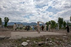 May 1, 2012. Children play cricket on the demolished site of the compound of Osama bin Laden in Abbottabad, Pakistan. photo by Mian Khursheed—Reuters