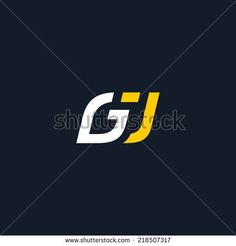 Sign the letter G and J Branding Identity Corporate vector logo design template Isolated on a dark background