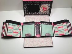 Boxed Gatefold mini-album patroon met door PaperHoarderDisorder