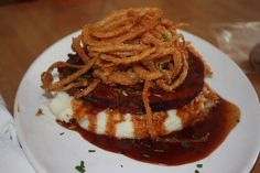 Bacon Wrapped Meatloaf recipe served at Wolfgang Puck Cafe in Downtown Disney at Disney World