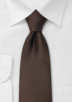 Solid color ties  Coffe brown necktie