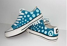DOTS shoes from www. Painted Shoes, Chuck Taylor Sneakers, Chuck Taylors, Baby Shoes, Dots, Clothes, Fashion, Stitches, Outfits