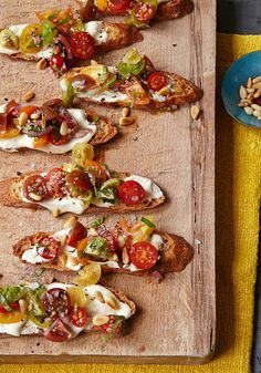 Ina Garten's Tomato Crostini with Whipped Feta Recipe