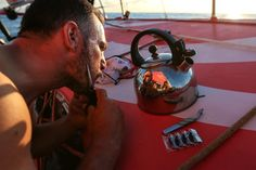 December 01, 2014. Leg 2 onboard Dongfeng Race Team. Eric Peron's Movember look