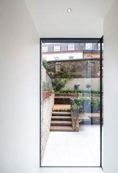 Framed view to courtyard garden