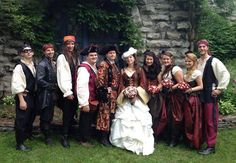 pirate wedding | Pirate wedding at the Castle! Aaargh! Congratulations to Lady Jessica ...