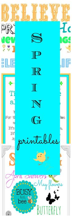 ★~ Three Spring-Easter Printables ~★                                         #printable. #spring
